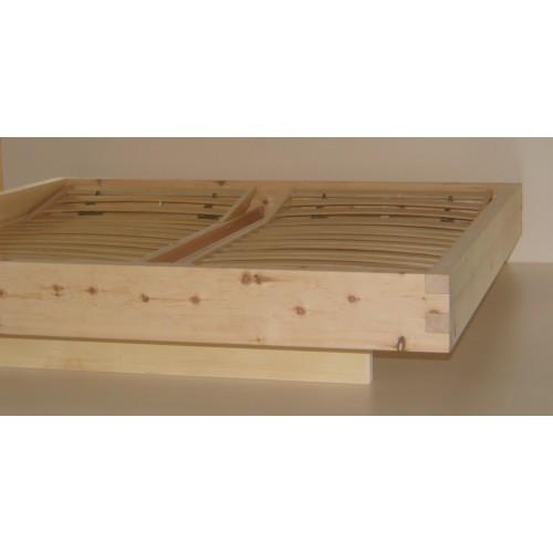Letto in legno massello cirmolo senza parti metalliche - Letto in legno naturale ...