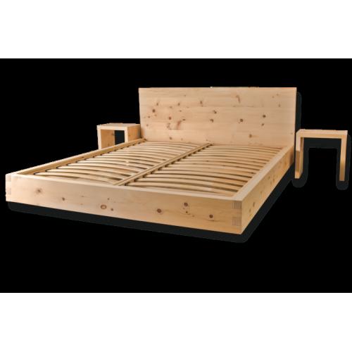 Camere Da Letto Moderne In Legno Massello : Letto in legno massello cirmolo senza parti metalliche