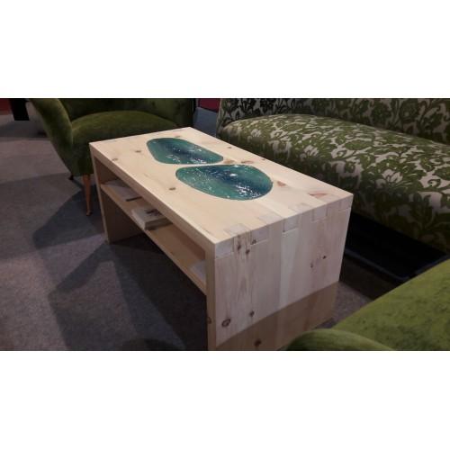 Tavolino conchiglia per divano in legno massello for Tavolino per divano