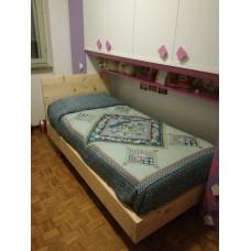 Einzelbett aus Zirm