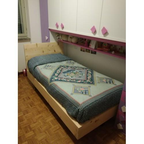 Letto in legno massello di cirmolo senza parti metalliche - Parti di un letto ...