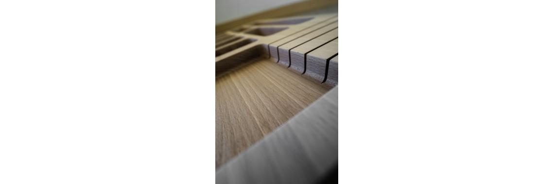Besteckeinsatz Holz Massiv
