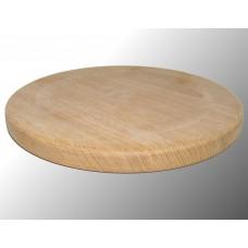 Piatto in legno rovere