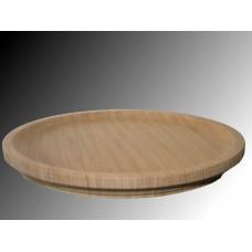 Piatto in legno mogano